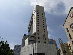 中国北京大連上海留学 大連民航ホテル 全貌