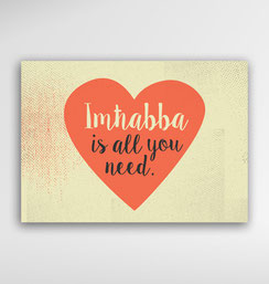 Malta Souvenirs Gifts Postcard Imhabba Love is all you need
