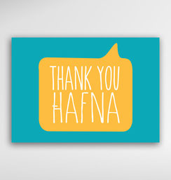 Malta Souvenirs Gifts Postcard Speak Maltese Language Thank You Hafna
