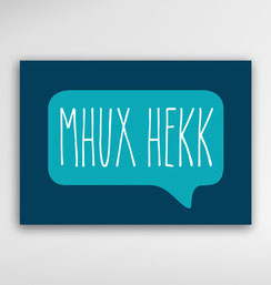 Malta Souvenirs Gifts Postcard Speak Maltese Language Mhux Hekk