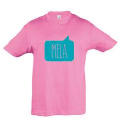 Mela Kid's Tshirt Pink Malta Map Souvenirs