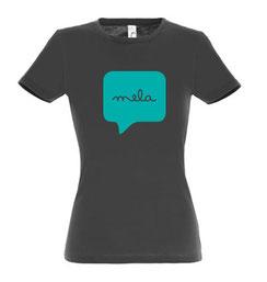 Mela Womens Tshirt Dark Grey Malta Souvenirs