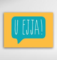 Malta Souvenirs Gifts Postcard Speak Maltese Language U Ejja