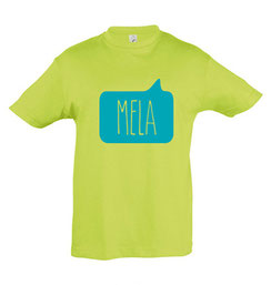 Mela Kid's Tshirt Green Malta Map Souvenirs