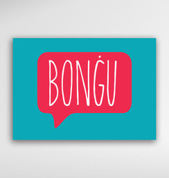 Malta Souvenirs Gifts Postcard Speak Maltese Language bongu