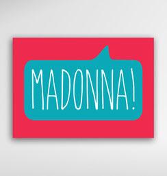 Malta Souvenirs Gifts Postcard Speak Maltese Language Madonna