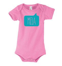 Mela Baby Bodysuit Pink Malta Souvenirs