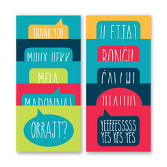 Speak Maltese postcards, Maltese words and phrases