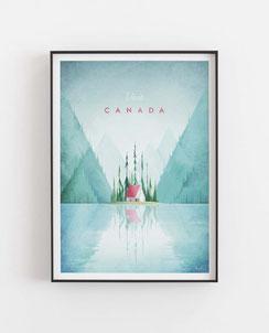 Schöne Orte Canada Poster im skandinavischen Stil