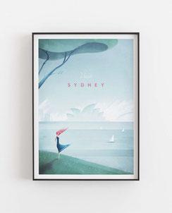 Schöne Orte Sydney Poster im skandinavischen Stil