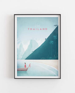 Schöne Orte Thailand Poster im skandinavischen Stil