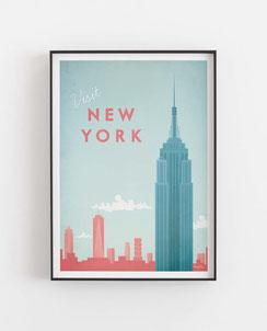 Schöne Orte New York Poster im skandinavischen Stil