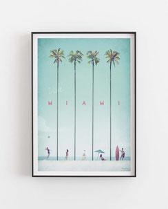 Miami Poster Wandbild