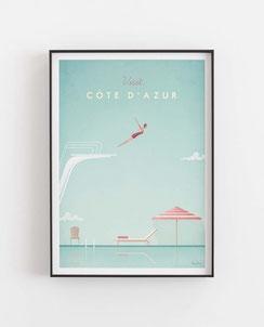 Cote D' Azur Poster Wandbild