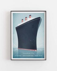Schöne Orte Le Havre Poster im skandinavischen Stil