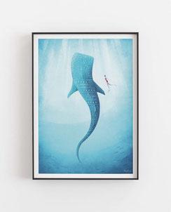 Schöne Orte Unter Wasser Poster im skandinavischen Stil