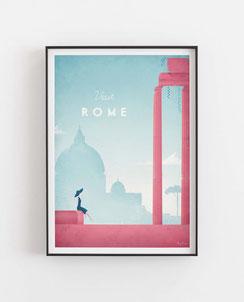 Schöne Orte Rom Poster im skandinavischen Stil
