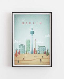 Schöne Orte Berlin Poster im skandinavischen Stil