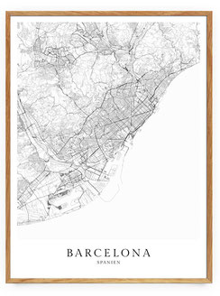 Barcelona Poster im skandinavischen Stil
