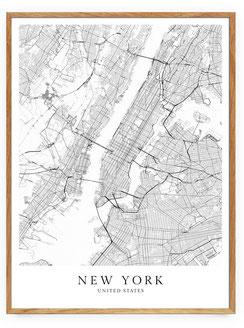 New York Poster im skandinavischen Stil