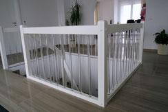 Treppengeländer mit Plexiglas Stäben