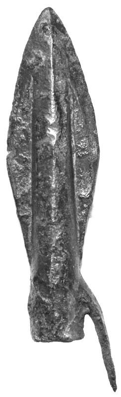 Bronzene Pfeilspitze in Lanzettform Skythen