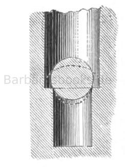 Auftreiben der Kugel auf den Kammerabsatz (Delvigne)