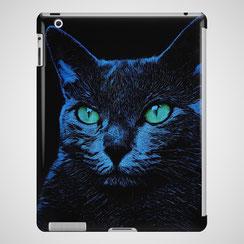 iPad Hülle Blue Cat - auch als Handyhülle verfügbar