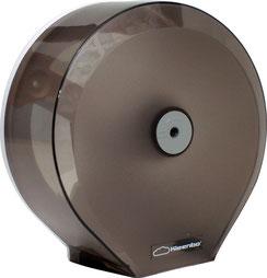 Despachadores de Papel Higiénico Humo Kleenbo Mini PR41310. Color: Transparente Dimensiones en milímetros: Alto: 280 Largo: 270 Ancho: 125 Contenido por caja: 1 pieza