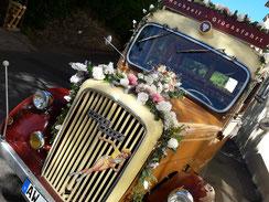 Hochzeitsfahrt mit dem Opel Blitz aus dem Jahr 1950
