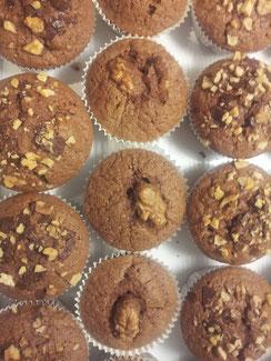 Gemischte Schoko Nuss Muffins