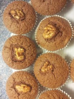 Schoko mit Walnuss Muffins