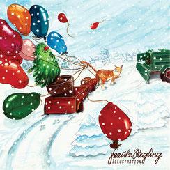Kinderbuch, Katze, Tannenbaum, Weihnachtsbaum