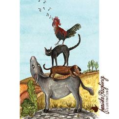 Editorial Obstmalerei Aquarell Zeitungsillustration Magazinillustration Mein schöner Garten Obst gemalt Illustration Schulbuch Illustrator Illustratorin