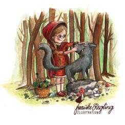Märchen, Rotkäpchen, Wolf, Gebrüder Grimm