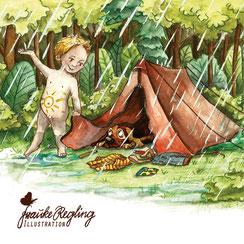 Illustrator Illustration Kinderbuchillustration Kinderbuch Mädchen Hundeliebe Buchillustration Künstler Kinderbücher Schulbuch