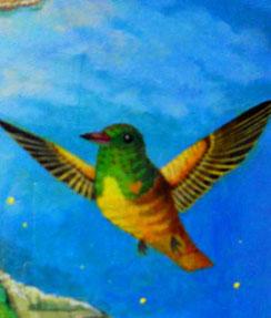 立花雪 YukiTachibana    鳥の絵 ハチドリ