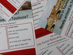 Flyer, Gestaltung, Frankreich, Bürokratie