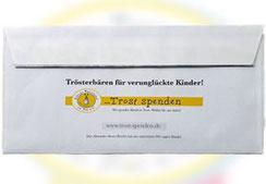 Kindern mit dem Kauf von Benefiz-Briefumschlägen helfen - Kleine Patienten in Not e.V.