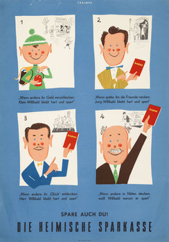 Posters: Savings Bank  and children