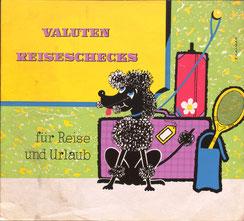 Valuten und Reiseschecks für Reise und Urlaub - natürlich bei der Sparkasse (Pudel, Urlaubsplakat 37x32).