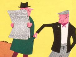 Taschendieb stiehlt. Poster 1960.