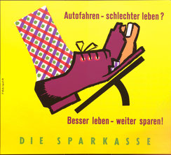 poster against loins for car leasing. austria 1962.
