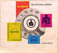 Sie können wählen. Plakat  Sparkasse 1967.