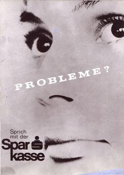 Image Werbung der Sparkasse 1970er Jahre. Poster Entwurf Heinz Traimer.