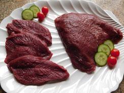 Straußenfleisch, Filet, Steak, Braten