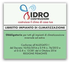 NUOVO LIBRETTO DI IMPIANTO DI CLIMATIZZAZIONE INVERNALE E ESTIVA