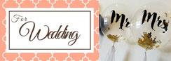 結婚式バルーン装飾、バルーン電報