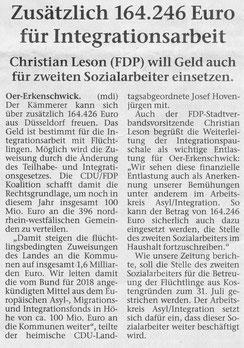 Artikel der Stimberg Zeitung vom 13.4.2018