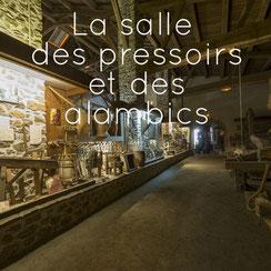 La viticulture, la salle des pressoirs et des alambics, Musée des Métiers